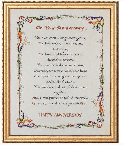 On Your Anniversary Framed Print