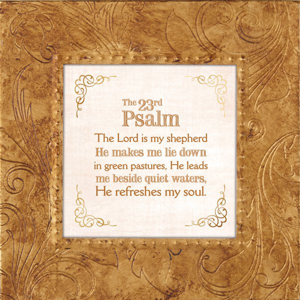 "Touch of Vintage 7x7"" Frame - Psalm 23:1-3"