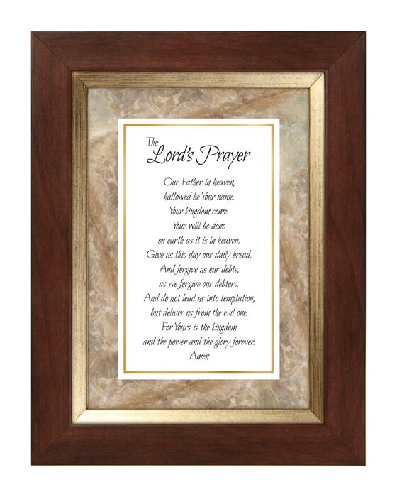 Lord's Prayer Meaningful Moments Frame