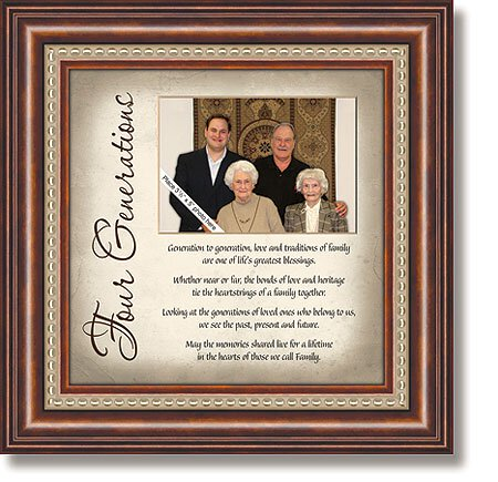 Four Generations Framed Tabletop Christian Verse