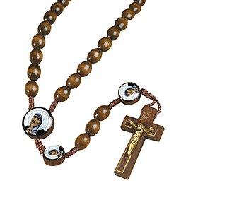 St. Teresa of Calcutta Devotional Wood Corded Rosary - 12/pk