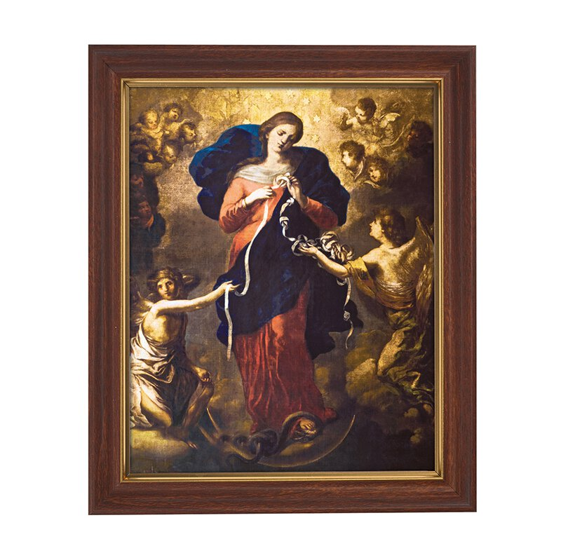 """10 x 12.5"""" Mary, Untier of Knots Framed Print"""