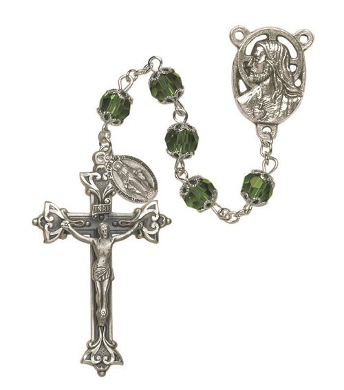 Double Capped Vienna Emerald Rosary