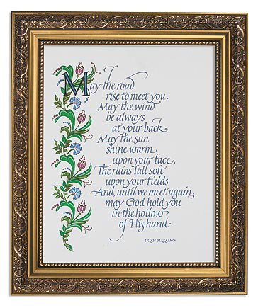 "Framed Print 11 x 13"" An Irish Blessing"