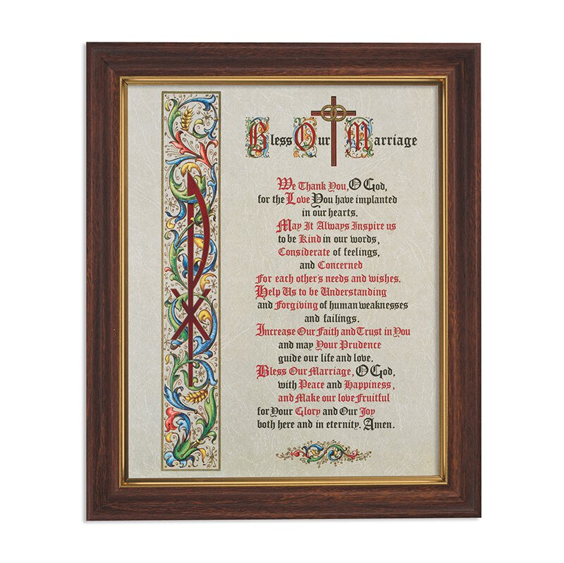 "Framed Print 10 x 12.5"" Bless Our Marriage"