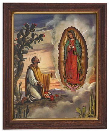 "Framed Print 10 x 12.5"" San Juan Diego"