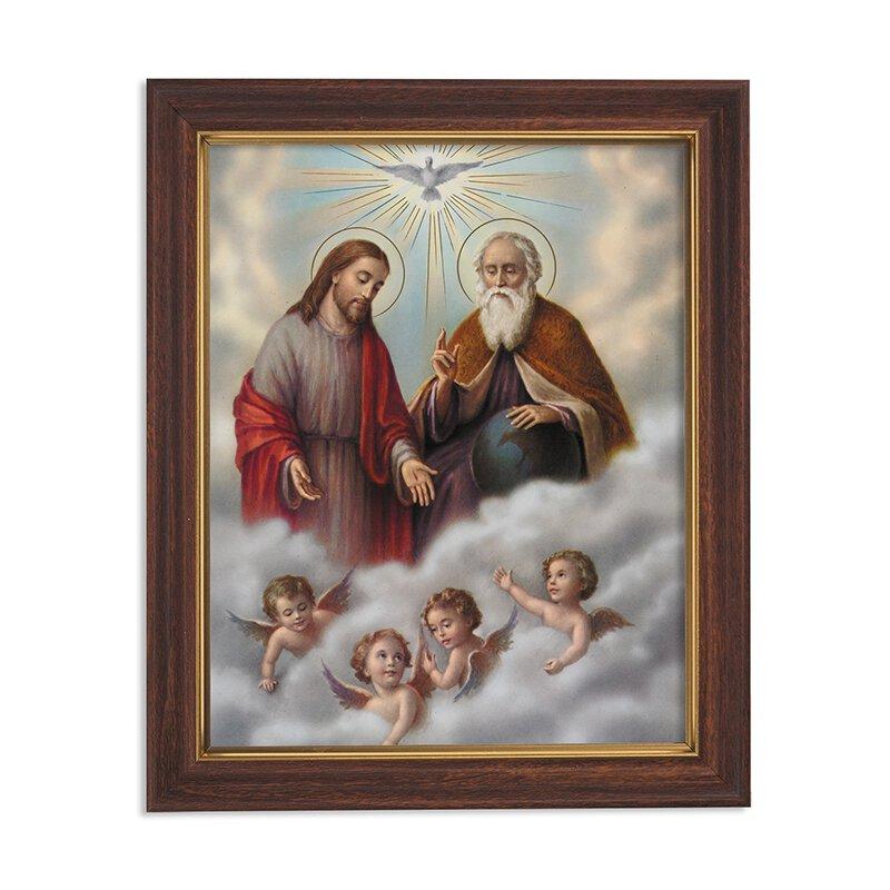 "Framed Print 10 x 12.5"" Holy Trinity"