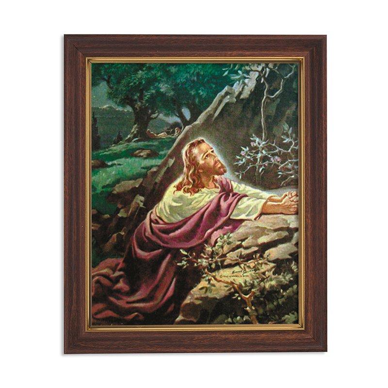 "Framed Print 10 x 12.5"" Sallman: Christ in Gethsemane"