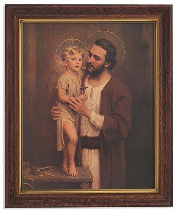 "Framed Print 10 x 12.5"" Chambers: Saint Joseph"