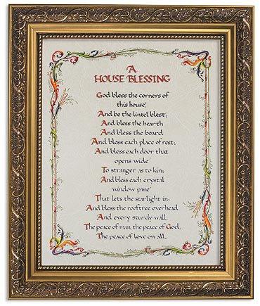 """Framed Print 11 x 13"""" House Blessing"""
