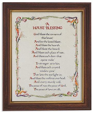 """Framed Print 10 x 12.5"""" House Blessing"""