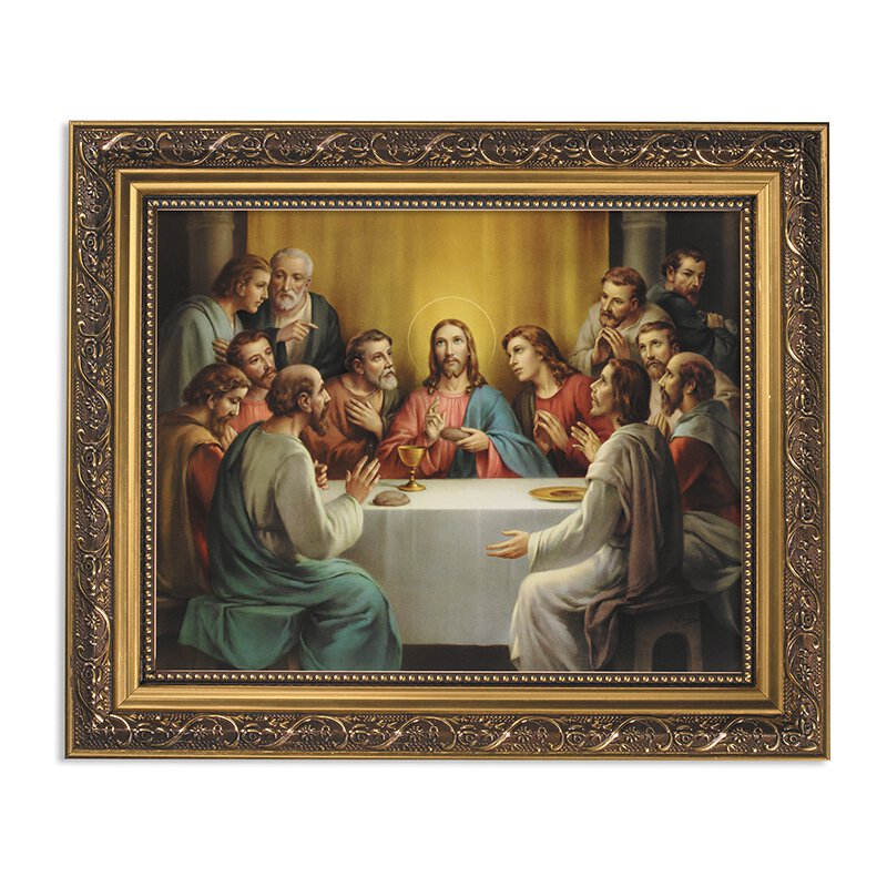 "Framed Print 11 x 13"" The Last Supper"