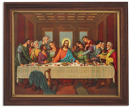 "Framed Print 10 x 12.5"" The Last Supper"