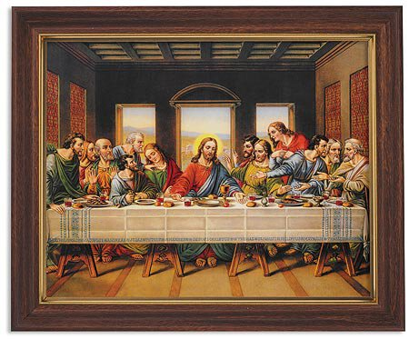The Last Supper Framed Print - Wood Tone