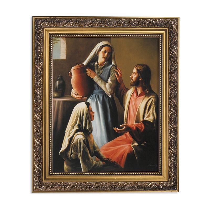 "Framed Print 11 x 13"" Lindsley: Jesus, Mary and Martha"