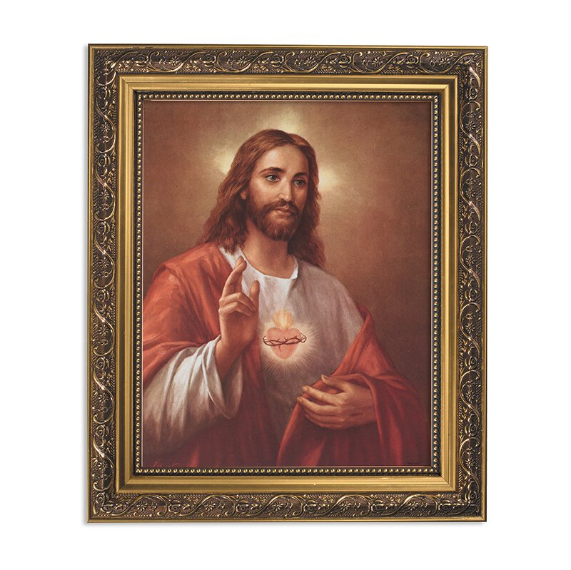 "Framed Print 11 x 13"" LaFuente: Sacred Heart of Jesus"
