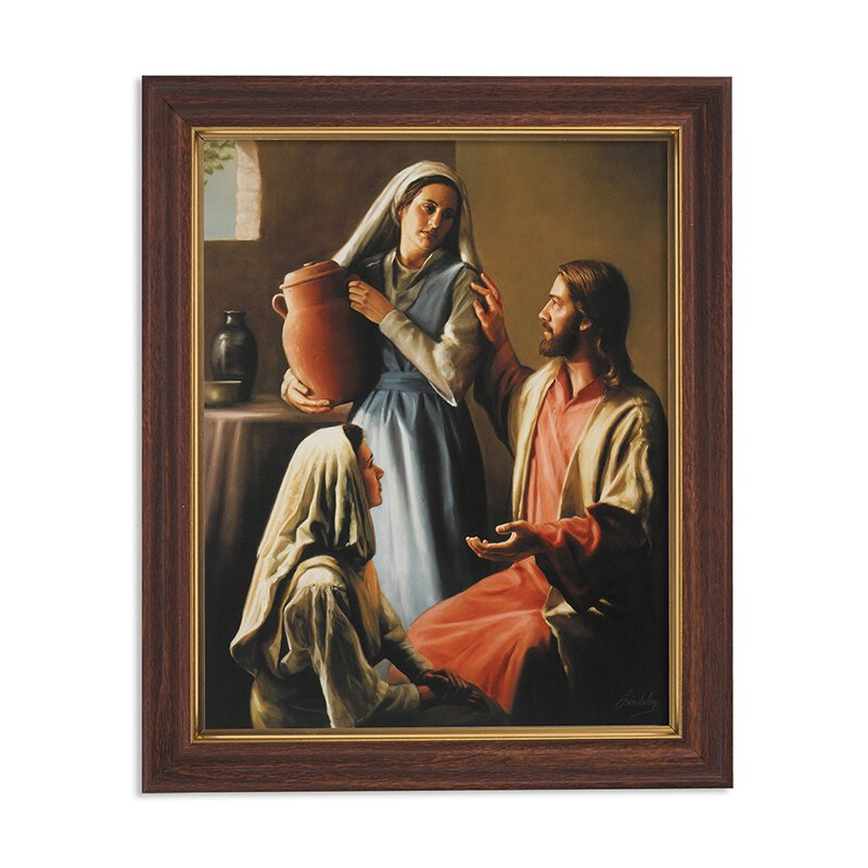 "Framed Print 10 x 12.5"" Lindsley: Jesus, Mary and Martha"