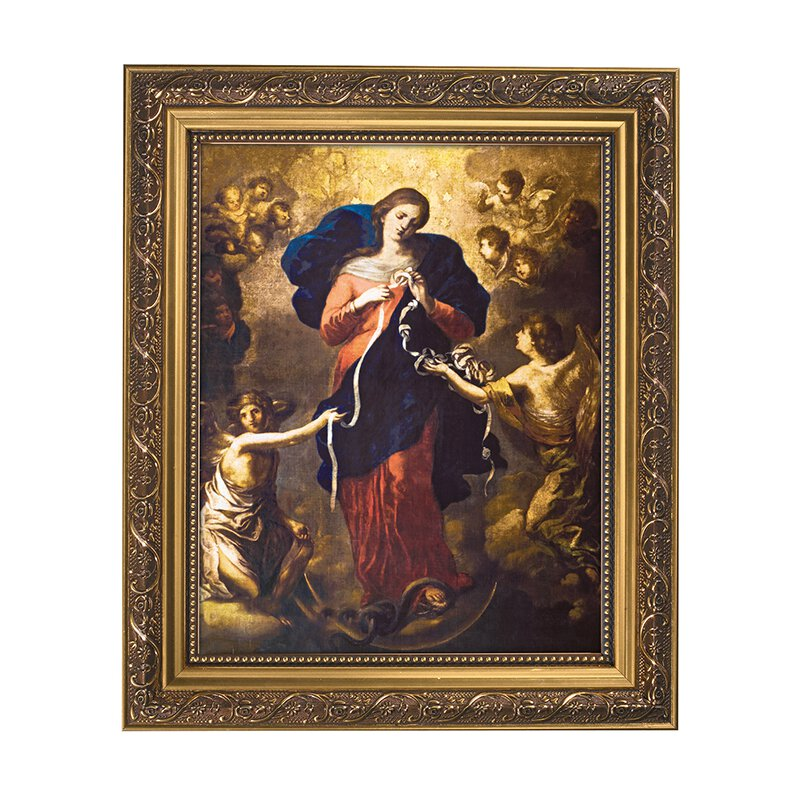 "11 x 13"" Mary, Untier of Knots Framed Print"