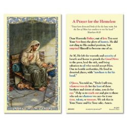 Homeless Jesus - No Place to Rest Laminated Holy Card - 25/pk