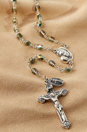 Mother's Embrace AB Rosary - Emerald