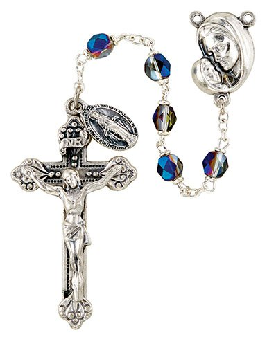 Mother's Embrace AB Rosary - Sapphire