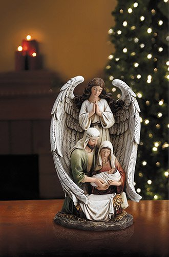 "10"" H Guardian Angel Holy Family"
