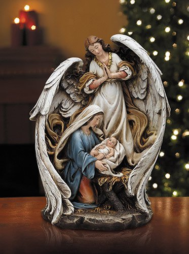 "15"" H Guardian Angel Mary with Baby Jesus"