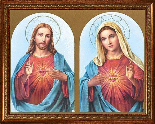 "14 x 18"" Sacred Hearts Framed Print"