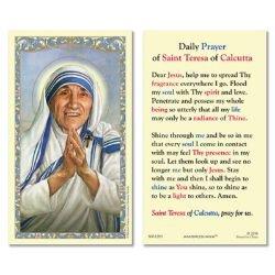 St. Teresa of Calcutta Laminated Holy Card - 25/pk