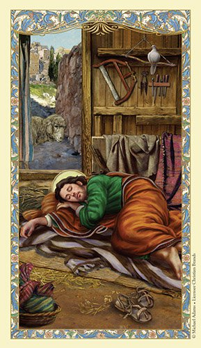 St. Joseph Sleeping Holy Card - 25/pk