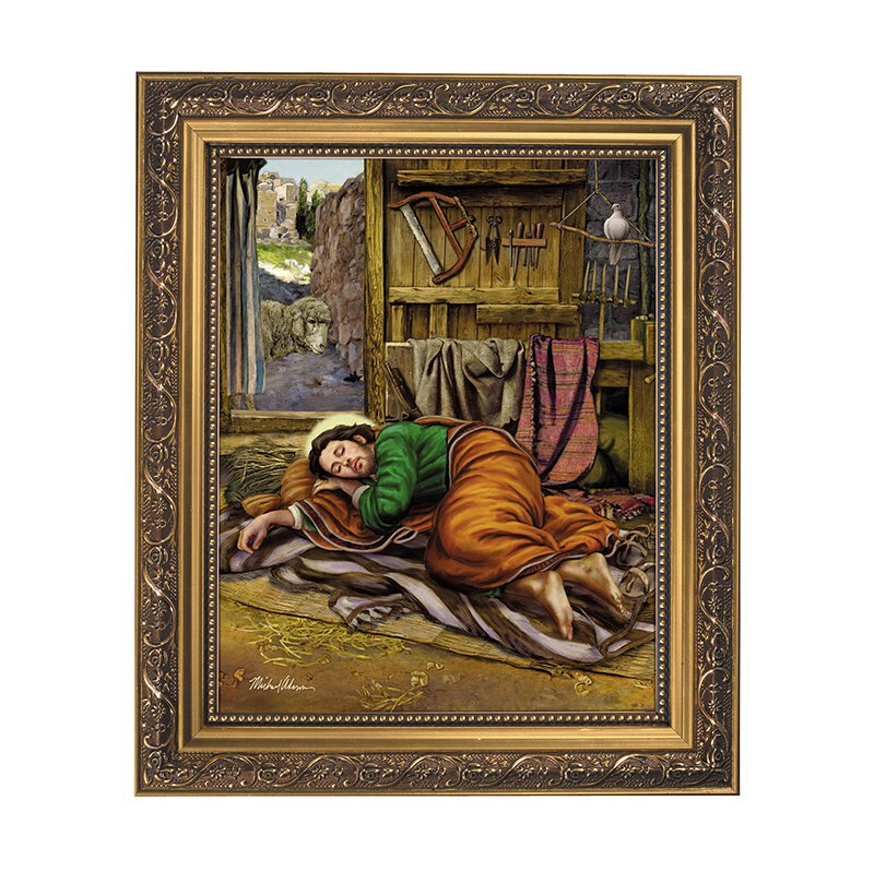 11 x 13 Sleeping St. Joseph Framed Print