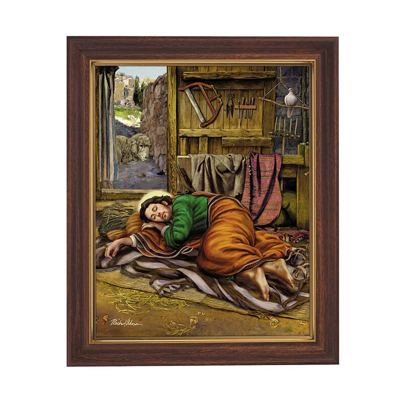 10 x 12.5 Sleeping St. Joseph Framed Print