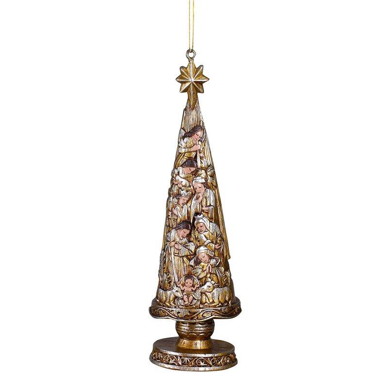 Metallic Nativity Christmas Tree Ornament