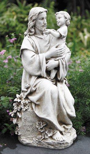 """20"""" Jesus With Child Garden Statue"""