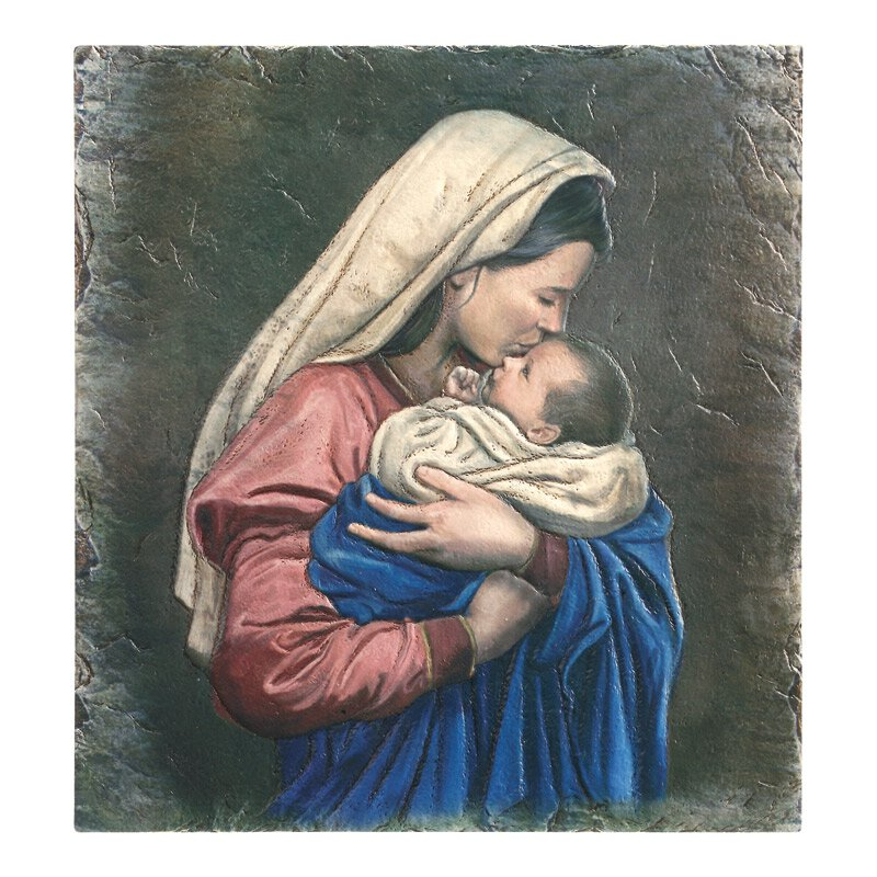 Marco Sevelli Tile Plaque - Mother's Kiss