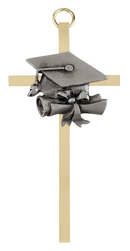 "4 1/4"" Graduation Brass Cross - 4/pk"