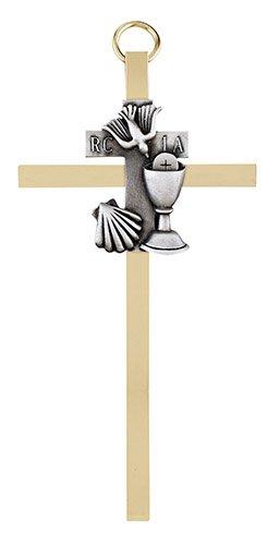 "4 1/4"" RCIA Brass Cross - 4/pk"
