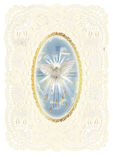 Confirmation Deluxe Embossed Holy Card - 12/pk