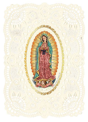 Our Lady of Guadalupe Deluxe Embossed Holy Card - 12/pk