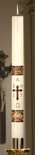No 9 Agnus Dei Paschal Candle
