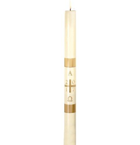 No 4 Plain Cross Paschal Candle