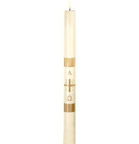 No 4 Special Plain Cross Paschal Candle