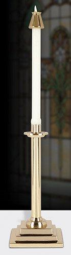 "12"" Square Base Altar Candlestick"