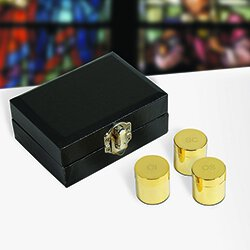 Triple Holy Oil Stock Set with Case - Polished Brass