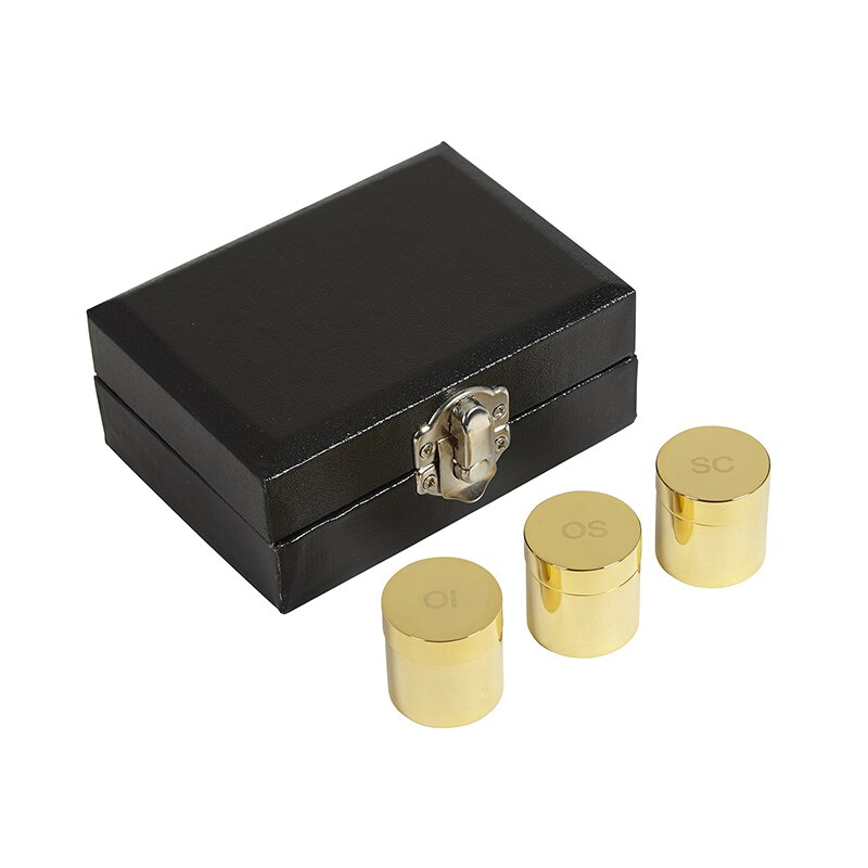 Triple Holy Oil Stock Set with Case - Gold Plated