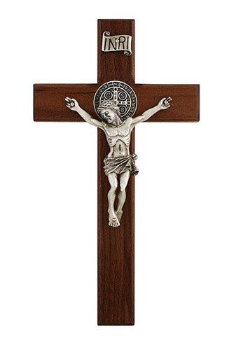 Walnut St. Benedict Crucifix