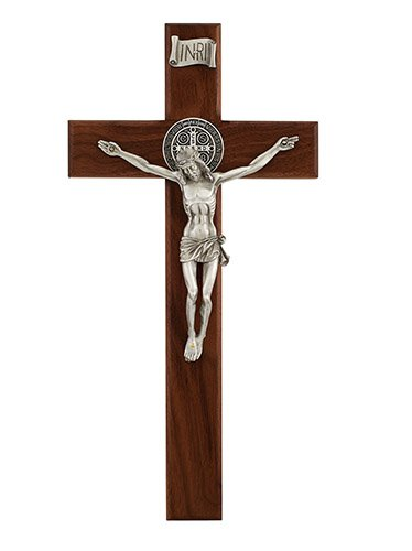 Walnut St. Benedict Crucifix