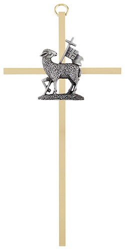 "7"" Reconciliation Brass Cross"