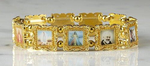 11 Patron Saints Bracelet - Gold
