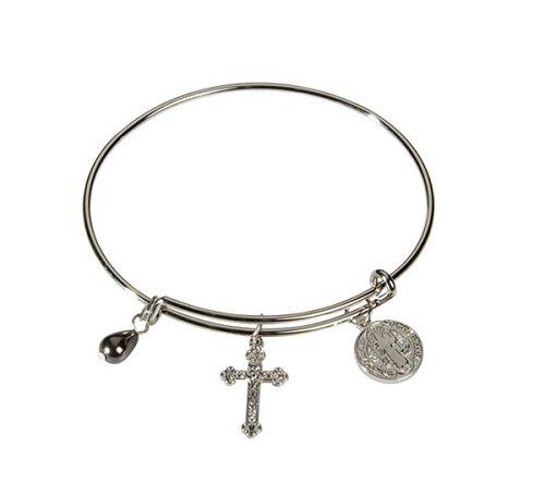 Saint Benedict Bangle Charm Bracelet